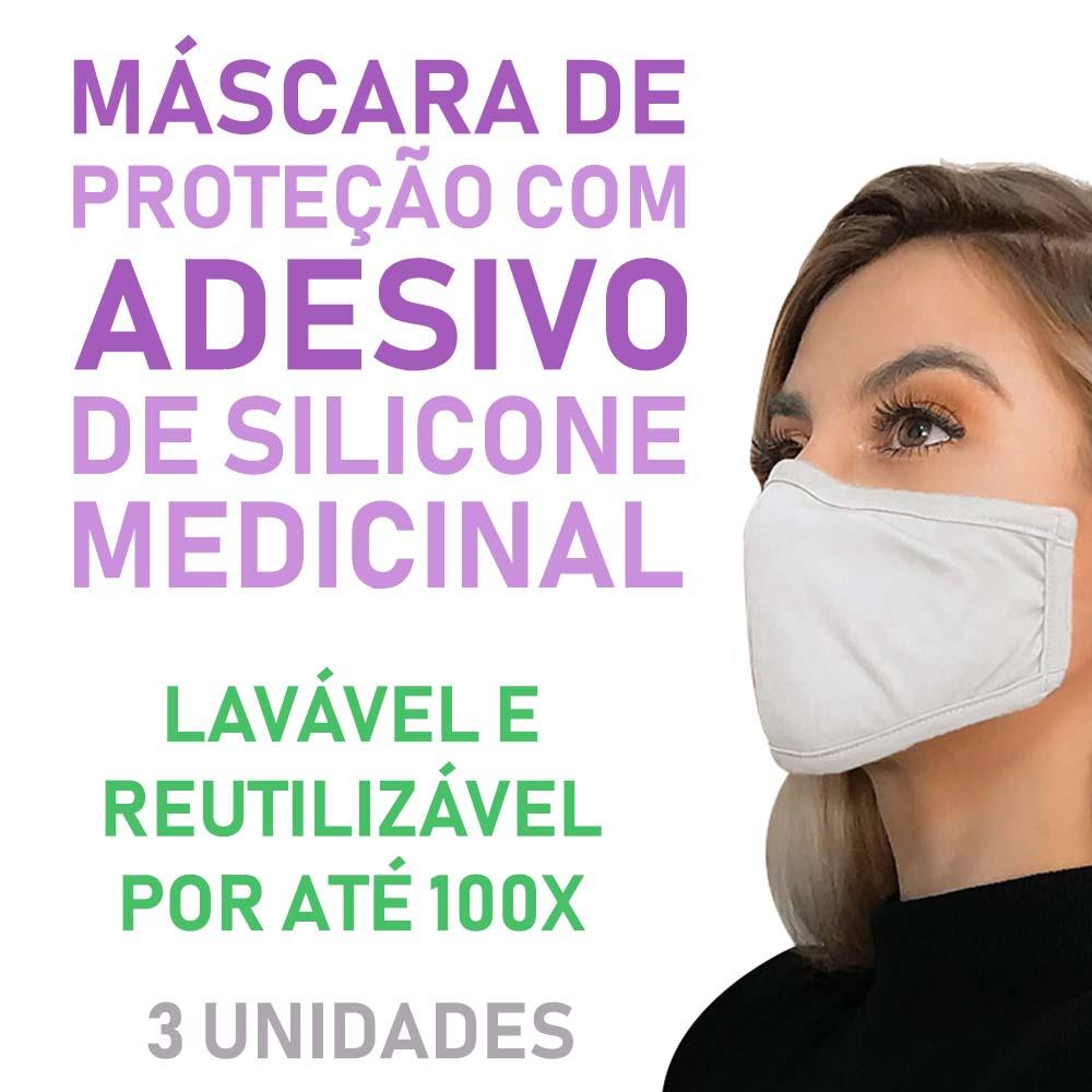 Polisani Materiais Médicos - MÁSCARA DE PROTEÇÃO ADESIVA PRETA C/3