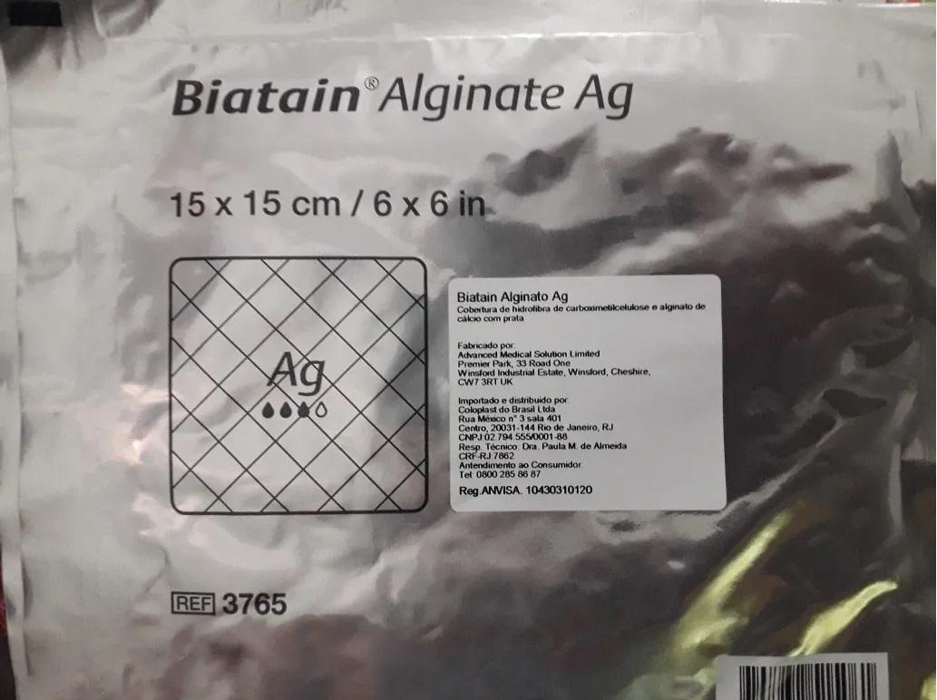 Polisani Materiais Médicos - CURATIVO BIATAIN ALGINATO AG 3760 10x10 COLOPLAST