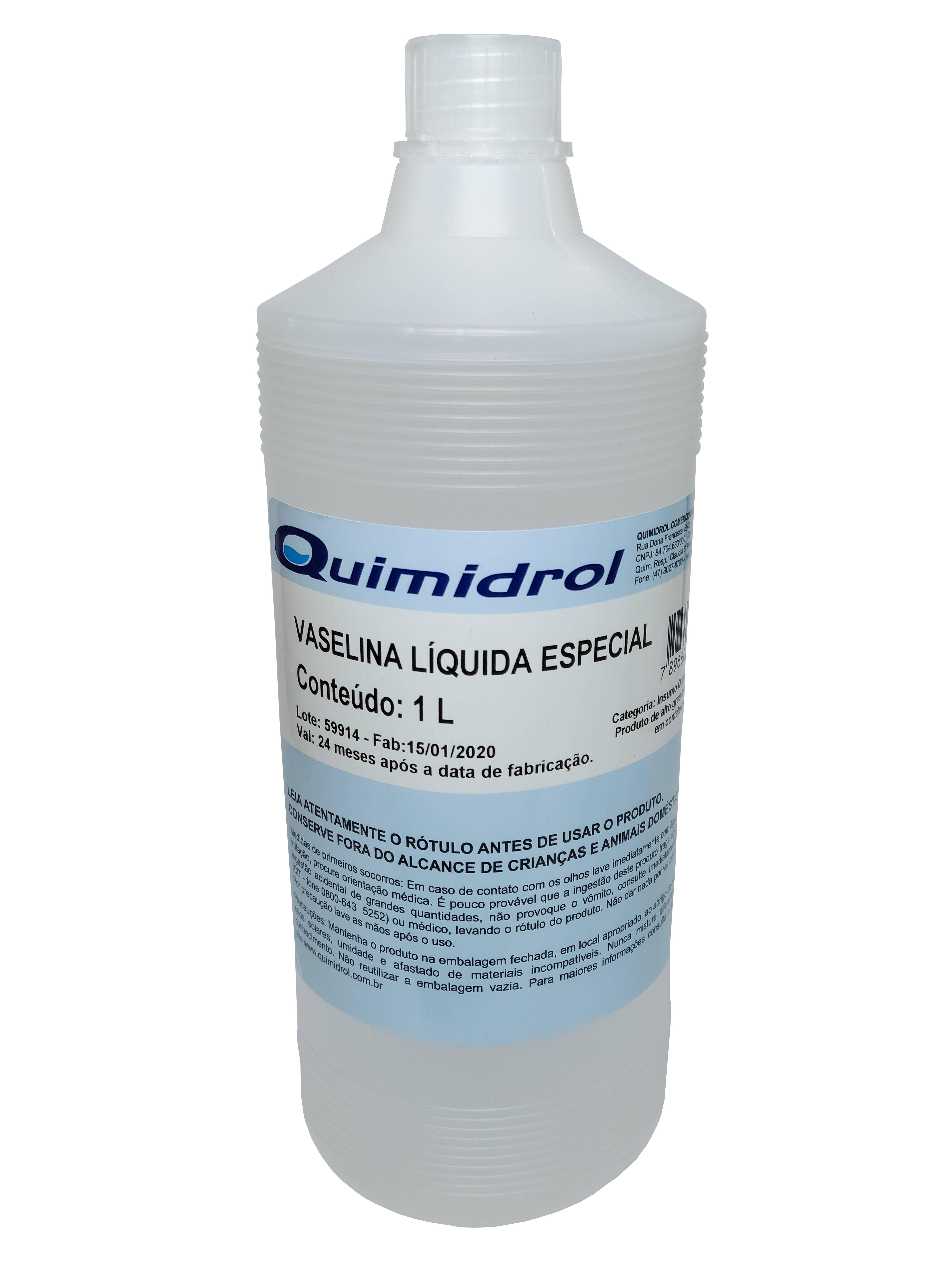 Polisani Materiais Médicos - VASELINA LIQUIDA ESPECIAL - QUIMIDROL 1L