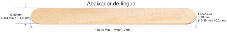 Polisani Materiais Médicos - ABAIXADOR DE LÍNGUA THEOTO CAIXA COM 5000 UNDS