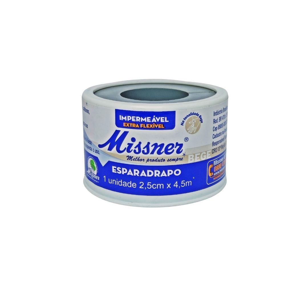 Polisani Materiais Médicos - ESPARADRAPO IMPERMEÁVEL BEGE MISSNER 25MMX4,5M