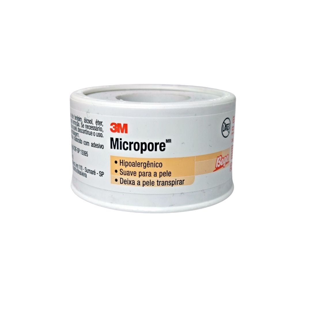Polisani Materiais Médicos - MICROPORE 3M BEGE 25MMX10M