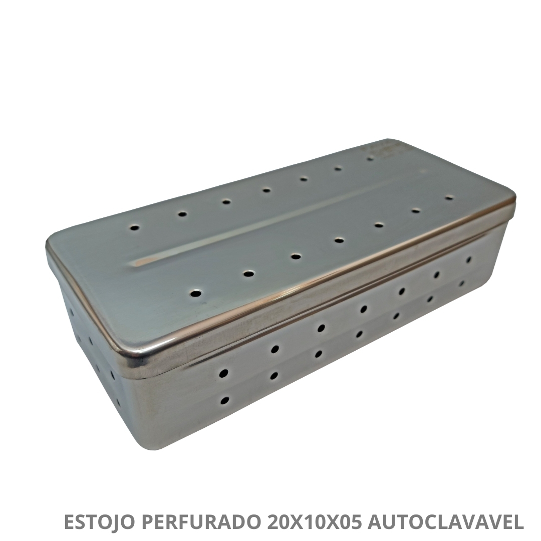 Polisani Materiais Médicos - ESTOJO PERFURADO AUTOCLAVAVEL 18X10X05 MILLENIUM FAVA