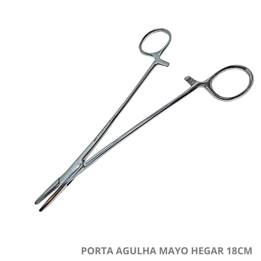 Polisani Materiais Médicos - PORTA AGULHA MAYO HEGAR 18CM ABC